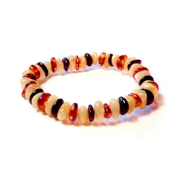 Baby Bracelets on Multicolour Baltic Amber Baby Teething Bracelet Is Made From Natural