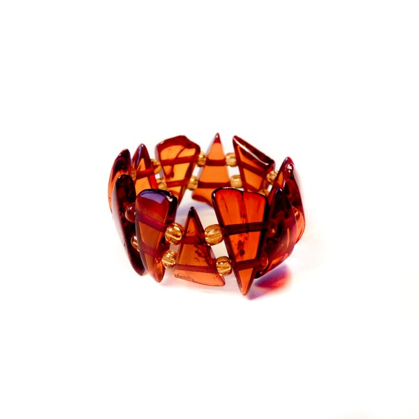 Stretch Rings on Amber Stretch Ring   Cognac Triangles   Amber Jewellery