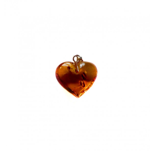Heart Shaped Pendants on Heart Shaped Amber Pendant   Clear Honey   Amber Jewellery