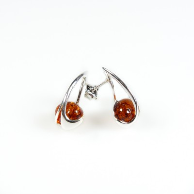 /545-754-thickbox/silver-round-amber-stud-earrings-cognac.jpg