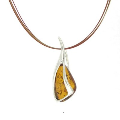 /58-183-thickbox/amber-pendant-on-colored-steel-wire-necklace.jpg