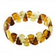 Multicolor amber stretch bracelet