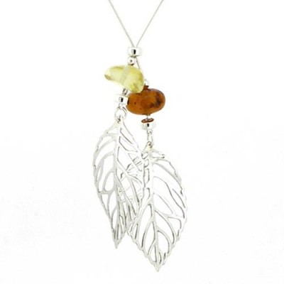 /76-185-thickbox/amber-pendant-with-2-leaves-and-beads-of-lemon-orange-amber.jpg